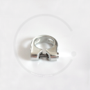 Seat Clamp with Hex Head Bolt - silver, 28.6