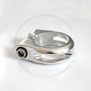 Seat Clamp with Hex Head Bolt - silver, 34.9