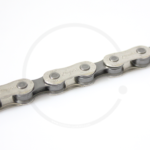 Connex 804 Bicycle Chain | 6 7 8 speed | 1/2 x 3/32 | nickel-plated outer links