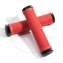 SRAM Double Clamp Lock-On Grips | black, red, white