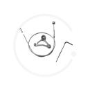 Tektro Brake Cable Triangle | Cantilever Straddle Cable & Yoke - silver