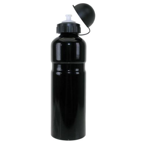 Trinkflasche Alu mit Deckel | 750 ml - schwarz