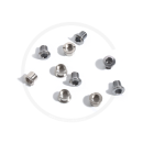 Double Stainless Steel Chainring Bolts | silver