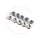 Kettenblattschrauben 2-fach Stahl | silber | 5 Stück