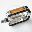 Tecora E Anti-Slip Pedals | Aluminium silver | with Reflectors