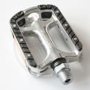 Tecora E Anti-Rutsch Pedal | Alu silber | mit Reflektoren