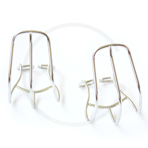MKS Cage Clip Half Toe Clips | Chromed Steel