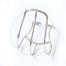 MKS Cage Clip Half Pedalhaken | Stahl verchromt