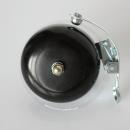 Klingel | Retro Rennrad Glocke mit Feder - schwarz