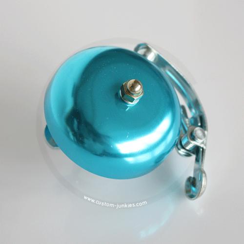 Klingel | Retro Rennrad Glocke mit Feder - blau