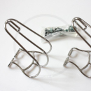 MKS Cage Clip Pedalhaken | Stahl verchromt - Gr. S