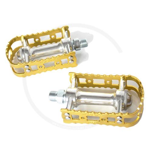 MKS BM-7 Beartrap Pedals - gold