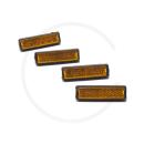 Pedalreflektoren | 4 Stück | Steckversion