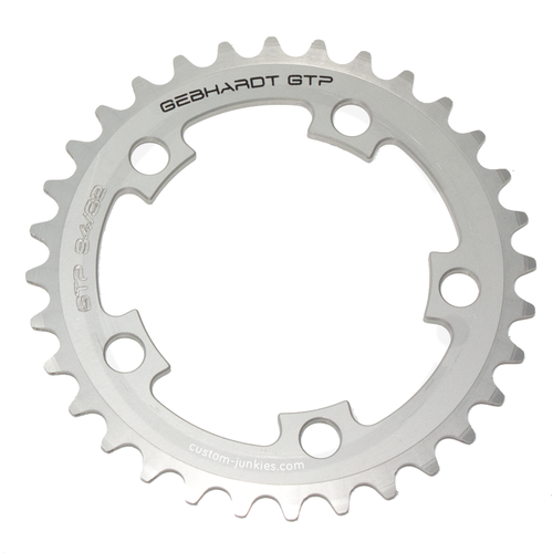 GEBHARDT Chainring Classic | Aluminium silver | 94mm BCD - 42T