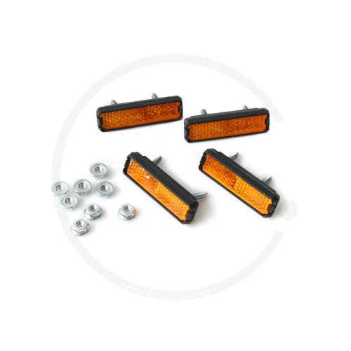 Pedalreflektoren | 4 Stück | Schraubversion