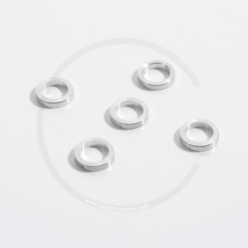 GEBHARDT Kettenblattdistanzscheiben Alu | 5 Stück - 2,7mm