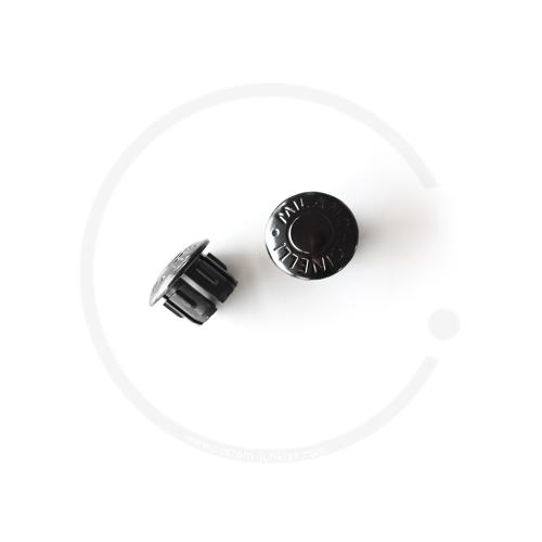Cinelli Milano Anodized Plugs | Lenkerstopfen | 2 Stück - schwarz