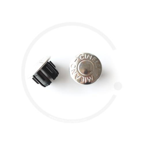 Cinelli Milano Anodized Plugs | Lenkerstopfen | 2 Stück - silber