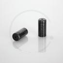 Anschlaghülse für Schaltzugaußenhülle | Messing verzinkt | schwarz | 4mm