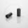 Anschlaghülse für Schaltzugaußenhülle   Messing verzinkt   schwarz   4mm