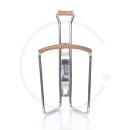 Zéfal Classic Trinkflaschenhalter Chrom mit Leder