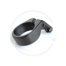 Sattelklemme CNC mit Bremskabelgegenhalter | Alu schwarz - 31.8mm