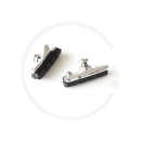 Brake Shoes for Shimano Dura Ace Caliper Brakes | Aluminium silver | 1 Pair