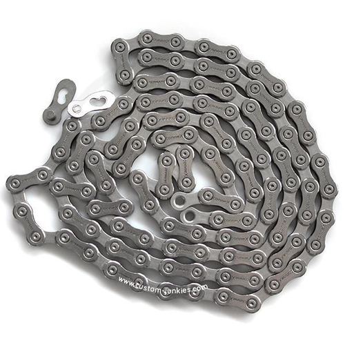 """Connex 9SX Bicycle Chain   9 speed   1/2 x 11/128""""   Stainless Steel, nickel-plated"""