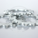 """Miche Track Sprocket   Steel Silver   1/2 x 1/8"""" (3mm width) - 16T"""