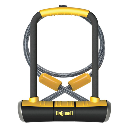 Onguard Pitbull DT #8005 | U-Lock 115x230mm & Looped Cable | with Mounting Bracket