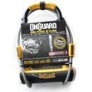 Onguard Pitbull DT #8005 | Bügelschloss 115x230mm & Schlaufenkabel | mit Halter