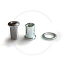 Kettenblattschrauben extralang 14mm f. 2-fach + Rockring | Stahl silber | 5 Stück