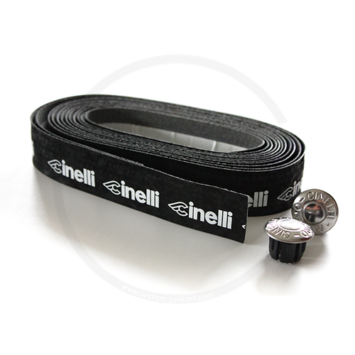 Cinelli Logo Velvet Ribbon | Synth. Lenkerband - schwarz