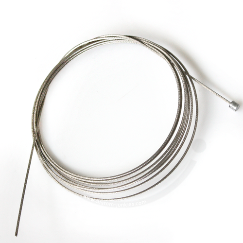 Shimano Edelstahl Schaltzug | Nippel 4 x 4mm | 1,2 x 2100mm