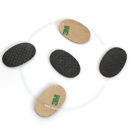 Adhesive Carbon Frame Protection Stickers Oval