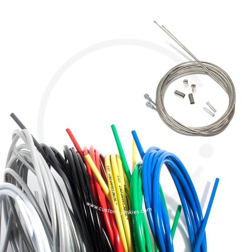 Bremszug Set Jagwire/ Shimano | ROAD | VR+ HR Züge & Hüllen - versch. Farben