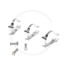 Tektro Cable Housing Clips for Top Tube | 3 Pcs | Ø 25.4 or Ø 28.6