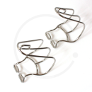 MKS Cage Clip Toe Clips | Chromed Steel