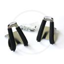 MKS Half-Clip Steel w/leather Pedalhaken