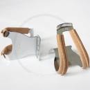 MKS Half Clip Steel w/leather Toe Clips | Vintage Road Bike, Single Speed