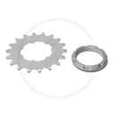 Miche Track Sprocket with Carrier | Steel Silver | 1/2 x...