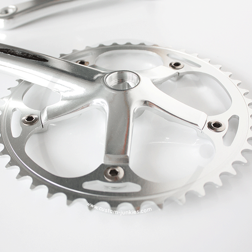 Miche Xpress Single Speed Crankset | 1/2 x 1/8 | silver | 170mm, 46T or 48T
