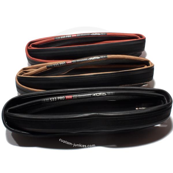 Tufo S-33 Pro tubular 700 x 24 black 2 tires WHITE TUFO LABEL tan NEW 2018