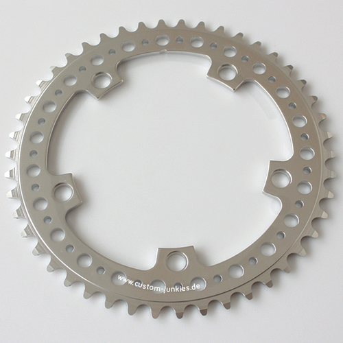 CNC Track Chainring SL perforated | 6061-T6 CNC | silver