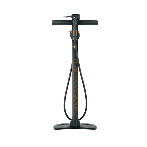 SKS Airworx 10.0 Floor Pump with Pressure Gauge | 10 bar | Multi Valve | black