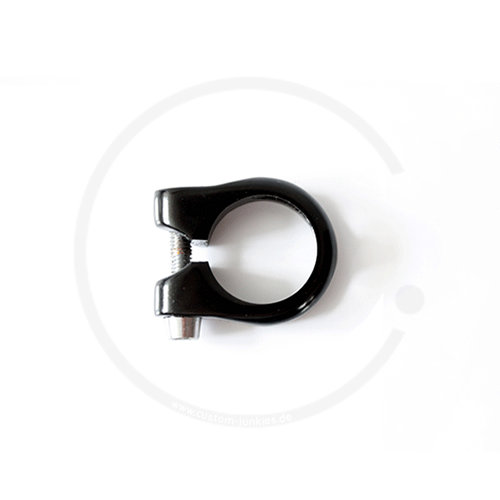 Sattelklemme Alu mit Innensechskantschraube - schwarz, 28.6