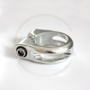 Seat Clamp with Hex Head Bolt   silver or black   28.6 / 31.8 / 34.9