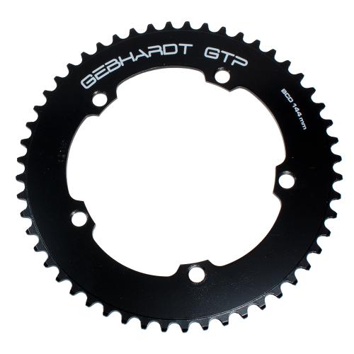 GEBHARDT Track Chainring | Aluminium black | 144mm BCD - 49T