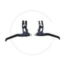 CNC Flatbar Brake Levers | Clamp 22.2 / 23.8 | black