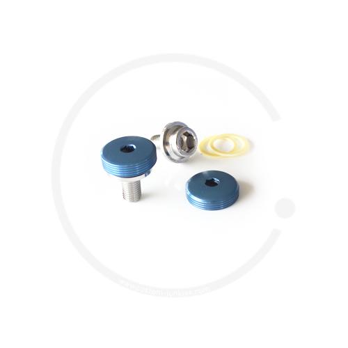 Kurbelschrauben mit farbiger Staubkappe | Vierkant - blau